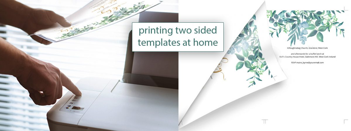 how to print two sided at home by the stationery concierge