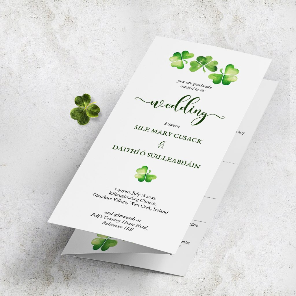 Trifold wedding suite stationery template