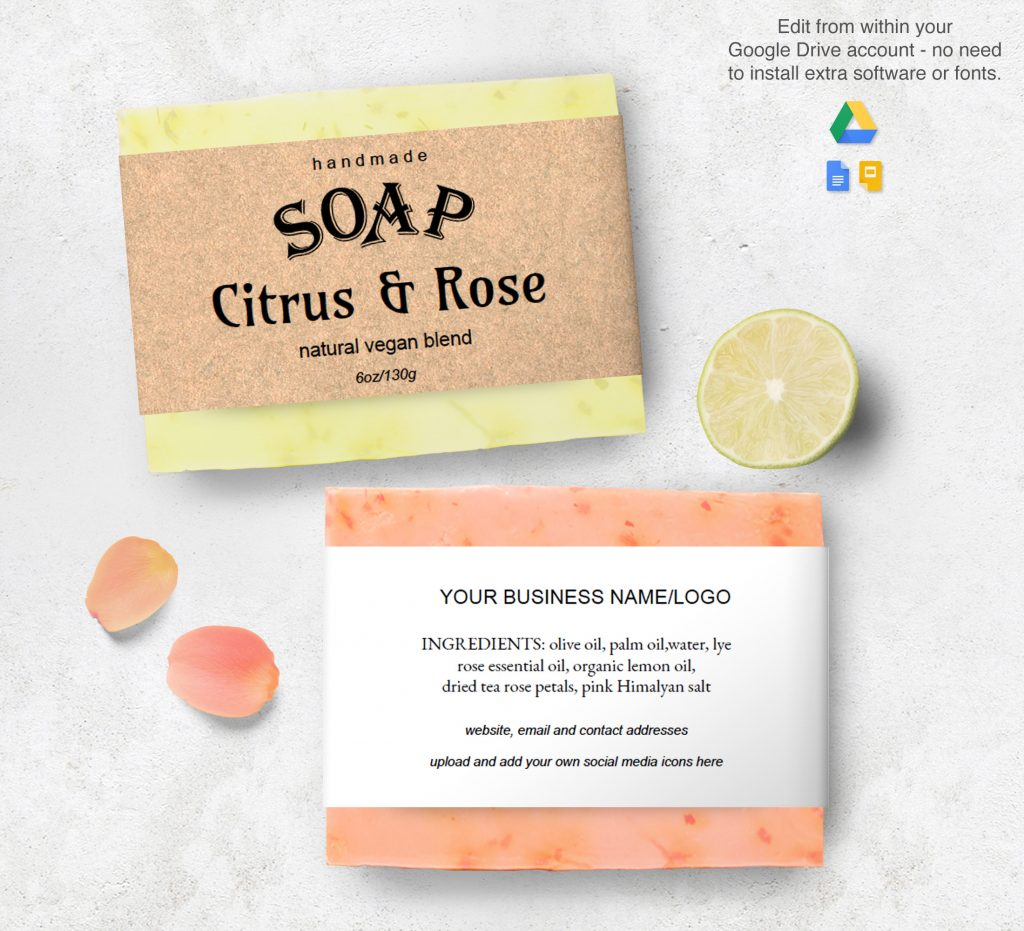 editable soap label template