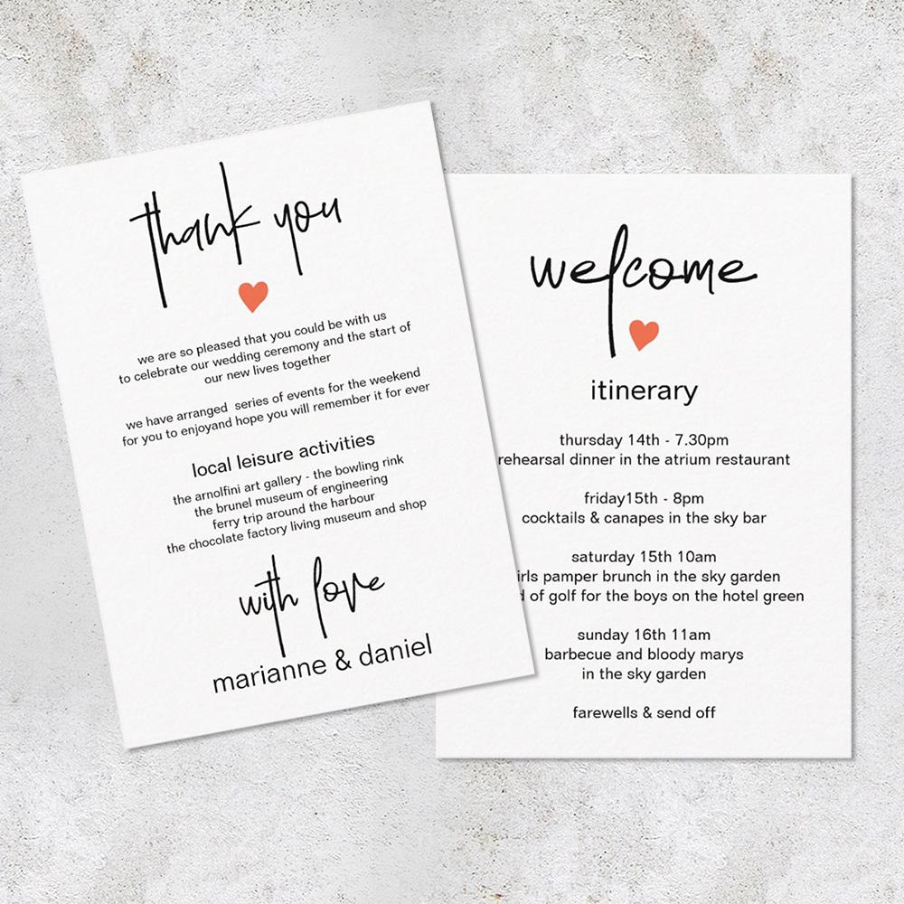 chic minimalist wedding stationery